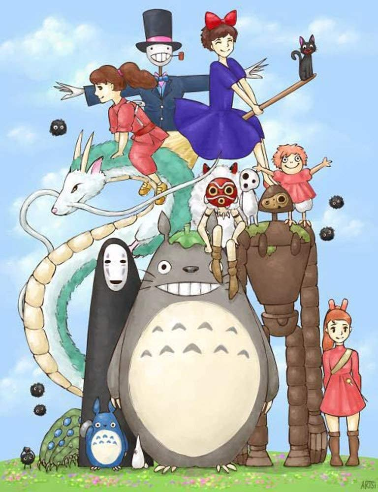 KaiWenLi Miyazaki Hayao Directly managed store Series Cartoon Photo Max 41% OFF Pat Group Character