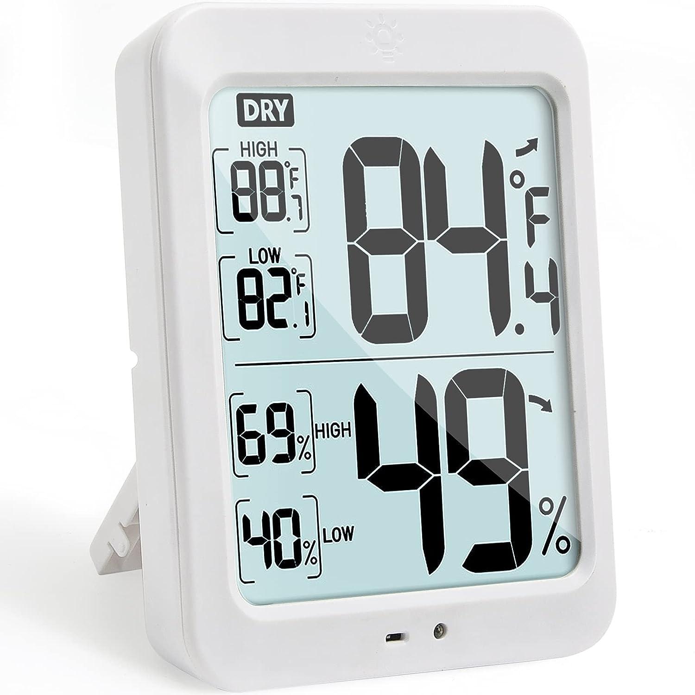 5'' overseas Night Light Max 85% OFF Hygrometer Humidity PAI Gauge Temperature Meter