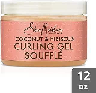 SheaMoisture Coconut & Hibiscus Curling Gel Souffle Styler, 12 Ounce