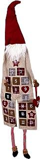 EXCEART Christmas Felt Advent Calendar 2020 Wall Hanging Gnome Doll Calendar 23 Days Countdown Calendar for Xmas Decoratio...