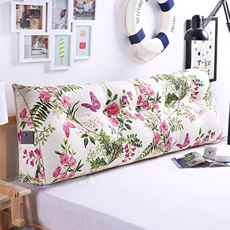 Z&HXCoussin de Chevet Coussin Soft Triangle Grand Coussin de Dossier de canapé, L, 1 Meters Bed (3 Button)