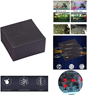Activated Carbon Eco-Aquarium Water Purifier Cube, Ultra Strong Filtration Absorption, No Powder Impurities,Simple to Use - Provide a Best Water Environment for Pet Fish, 10x10x5cm (Black)