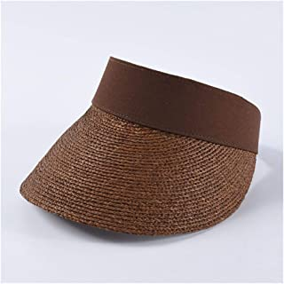 Summer Empty top hat Female INS Fashion Hipsters Wild Lafite Straw hat Beach Holiday Travel hat` TuanTuan (Color : Coffee)