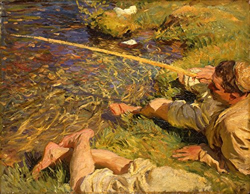 The Museum Outlet John Singer Sargent – Val d'Aoste, un homme de pêche – Impression sur toile acheter en ligne (76,2 x 101,6 cm)