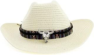 LiWen Zheng 100% Straw Cowboy Hat Women Men Summer Sun Hats Cow Band Summer Western Sombrero Hombre Lifeguard Hats