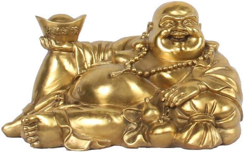 xilinshop Meditating Buddha Ranking TOP6 Statue Brass Sitting Max 70% OFF Laughing