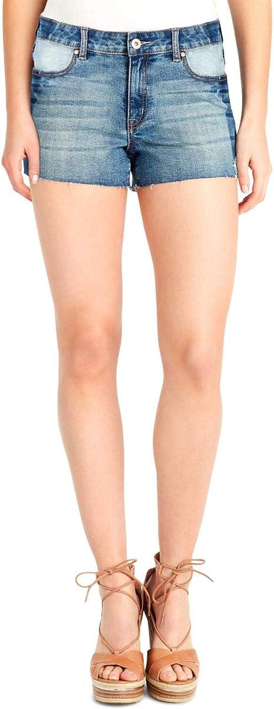 Jessica Simpson Womens Cherish Light Wash Applique Denim Shorts