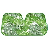 BDK Tropical Leaves Auto Windshield Sun Shade for...