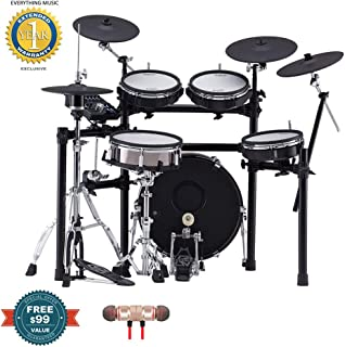 Roland TD-25KVX V-Drums Electronic Drum Set includes Free Wireless Earbuds - Stereo Bluetooth In-ear and 1 Year Everything Music Extended Warranty