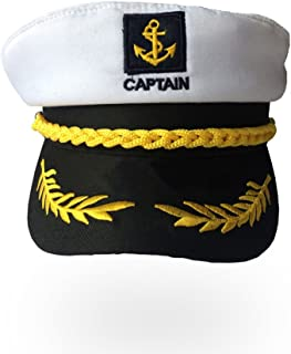 Soochat Sailor Ship Yacht Boat Captain Hat Sea Cap Navy Marines Costume Accessory (White)