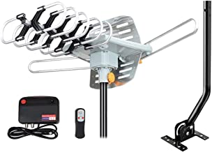 Outdoor Amplified HD Digital TV Antenna 150 Miles Range -with 360 Degree Rotation, Wireless Remote Control,33 FT RG6 Coax ...