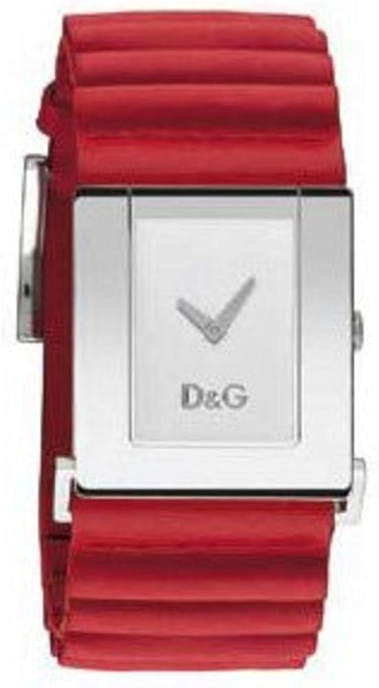 D&g dolce & gabbana cartriges damen,orologio per donna,cassa in acciaio e cinturino in vera pelle al 100 % DW0205