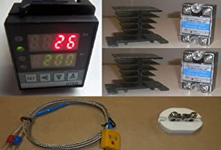PID Temperature Controller Kiln Probe 2x40A SSR Relay 2 Heatsink Paragon Pottery Glass for 220V