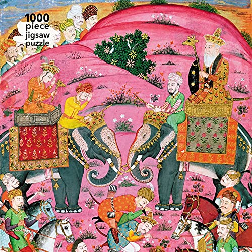 Adult Jigsaw Puzzle Abu'l-Qasim Manur Firdawsi: 'First Meeting of Rostam and His Grandfather, Sam' from 'Shahnama' (Book of Kings): 1000-Piece Jigsaw Puzzles