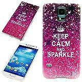 Handy Lux® Schutz Hülle Etui Silikon TPU Hülle Cover Design Motiv für LG G3 s - Keep Calm and Sparkle
