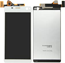 Professional LCD Display + Touch Screen Digitizer Assembly Replacement Compatible With Sony Xperia C4 (Color : White)