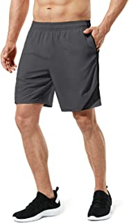 Men's Multi Pocket Workout Perfomance Quick-Dry Athletic Shorts