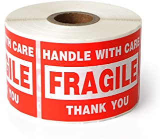 "Fragile - 2""x3"" Handle with Care Shipping Stickers, 500 Labels Per Roll"