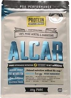 Protein Supplies Australia Alcar Pure Acetyl L-Carnitine Powder 200 g, Pure, 200 g