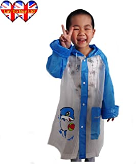 Luv To Buy Child's Raincoat, Unisex Raincoats, Blue Raincoat, Pink Raincoat
