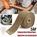 Cinta Venda caliente del colector de escape bajante de alta temperatura de aislamiento vendaje de la cinta Roll-5M