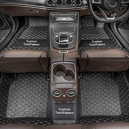 Dinuoda Alfombrillas de coche personalizadas para Skoda Superb Fabia Octavia Rapid Yeti Combi Karop Kodiaq Full rodeado de protección para todo tipo de clima XPE alfombras de cuero negro beige