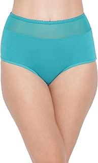 Clovia Women's Cotton High Waist Hipster Panty with Sheer Waist
