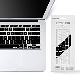 """iBenzer MKC01BK Macaron Series Keyboard Cover for MacBook Pro 13""""/15""""/17"""" (with or with Out Retina Display) MacBook Air 1..."""