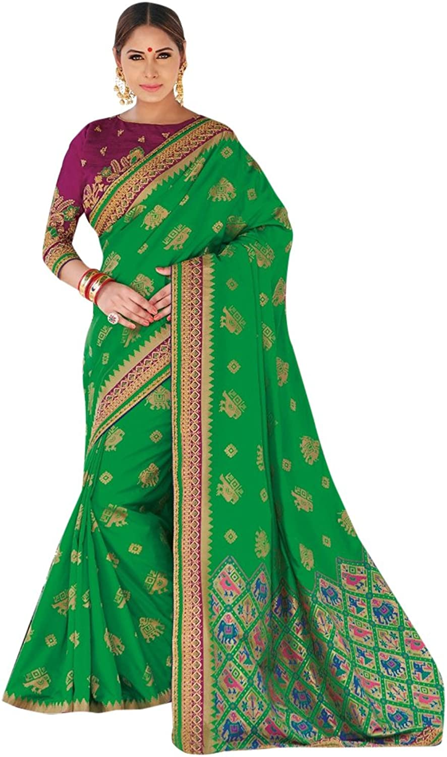 Bollywood Bridal Saree Sari for Women Collection Blouse Wedding Party Wear Ceremony 822 14