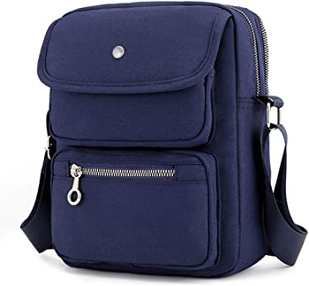 JOSEKO Multi-Pocketed Nylon Shoulder Bag