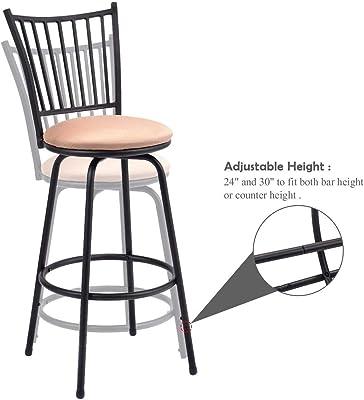 Wondrous Amazon Com Waterjoy Barstool Set Of 3 Modern Swivel Bar Ibusinesslaw Wood Chair Design Ideas Ibusinesslaworg
