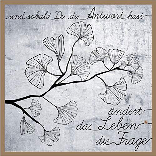 Good old Friends Wandbild Drahtkunst 'Groß Ginko