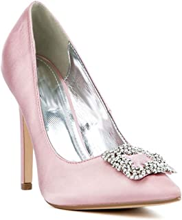 Jeweled Embellished Stiletto Women's Pointy Toe High Heels Pump