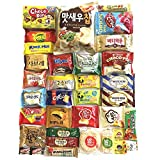 Excellent Korean Snack Box 33 Count Individual Wrapped Essentials Sample Packs of Candy, Snacks, Chips, Cookies, Treats for Kids, Children, College Students, Adult and Senior treat 33 pack
