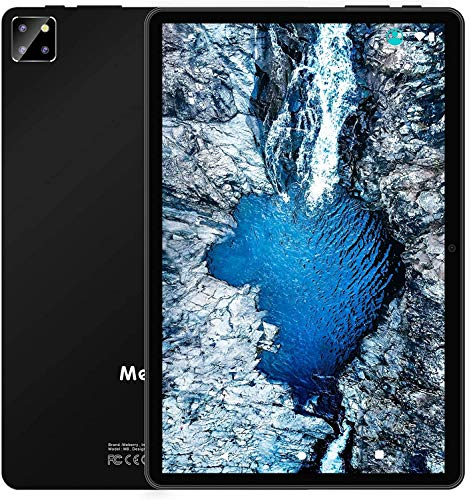 Tablet 10 Inch Multi Accessories Android 10 Tab, MEBERRY Octa Core 1.6 GHz Tablet PC: 5G WIFI   Face Unlock   FHD Display   4 GB RAM 64GB ROM   8000mAh  Triple Camera   Keyboard and Mouse, Black