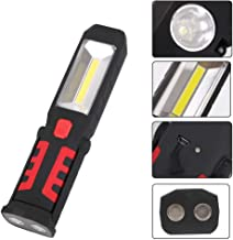 COB LED Magnetic Work Light Car Garage Mechanic Home Rechargeable Torch Lamp LB88-White