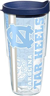 Tervis 1221271 North Carolina Tar Heels College Pride Tumbler with Wrap and Navy Lid 24oz, Clear
