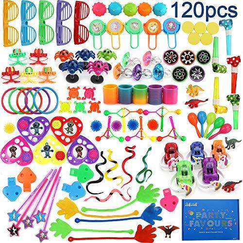 nicknack Surtido de 120 Juguetes para llenar piñatas y Juguetes para llenar Bolsas de Fiesta para Fiestas de cumpleaños Infantiles o para la Escuela