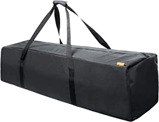 45 Inch Zipper Duffel Travel Sports Equipment Bag, Water Resistant Oversize, Black