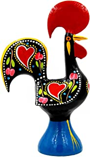 Ibergift 11 1/4 Inches Tall Traditional Portuguese Aluminum Rooster Galo de Barcelos