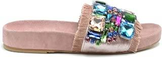 FIORINA Luxury Fashion Womens MCBI38420 Pink Sandals | Season Outlet