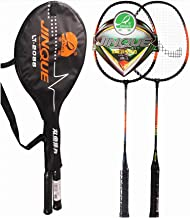 DOUBLE FISH 2 Player Badminton Racquets Set,Double Rackets, Lightweight & Sturdy Perfect for Beginner,1 Carrying Bag Included