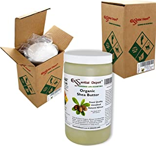 Shea Butter - 32 Oz. - 2 lbs - Organic - Unrefined - In resealable safety sealed HDPE Jar