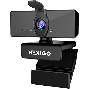 1080P Business Webcam with Dual Microphone & Privacy Cover, 2020 [Upgraded] NexiGo USB FHD Web Computer Camera, Plug and Play, for Zoom/Skype/Teams Online Teaching, Laptop MAC PC Desktop