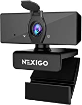 1080P Business Webcam with Software Control, Dual Microphone & Privacy Cover, 2021 [Upgraded] NexiGo USB FHD Web Computer ...