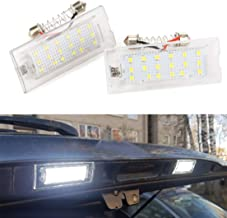 MOLEAQI 2 Unidades LED Blanco Número de matrícula Luz de la lámpara Led 18 LED 12V para B-MW E53 X5 1999-2003 E83 X3 2003-2010 Luz del Coche