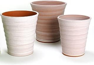 鉢 三河焼 KANEYOSHI 【日本製/安心の国産品質】 陶器 植木鉢 三河焼 フラワーロード ホワイトビスク 8号