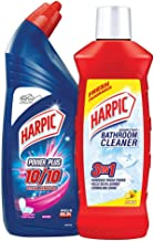 Harpic Bathroom Cleaner (Lemon) - 1 L Powerplus Toilet Cleaner Original, 1 L