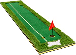 TTCB Sports Putting Green, Portable Golf Putting Green Indoor Mat for Home Golf Putter Practice and Training in Indoor/Outdoor and Backyard