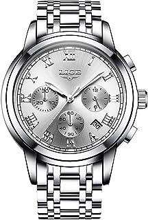 LIGE 9810 Men Watch Quartz Business Simple Wristwatch Calendar Date Hour Minute Second Display Timer 3ATM Waterproof Fashi...